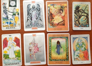 The Death and Temperance cards in Tarot