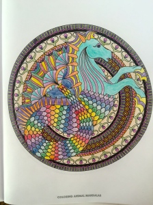 Dragon-horse from Coloring Animal Mandalas by Wendy Piersall