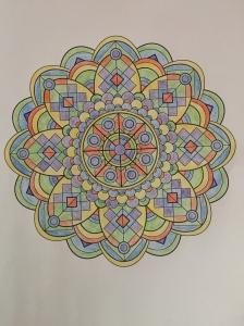 Week 1 mandala from Mandala Design Vol. 1 by Jenean Morrison