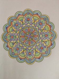 Week 1 mandala from Mandala Design Vol. 1 by Jenean Morrison