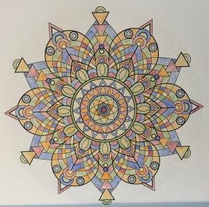 India-inspired mandala from Mandala Design Vol. 1 by Jenean Morrison