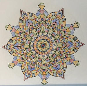 India-inspired mandala from Mandala Design Vol. 1 by Jenean Morrison