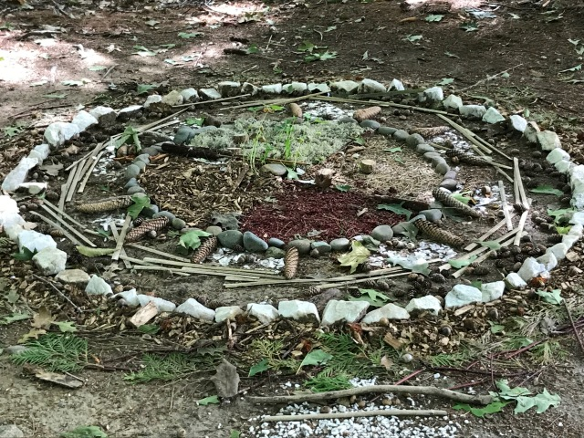 A wheel of life found in the woods