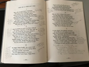 Annotated copy of Ode on a Grecian Urn