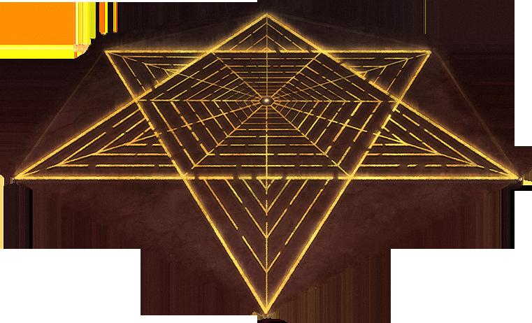 A labyrinth broken by darkness