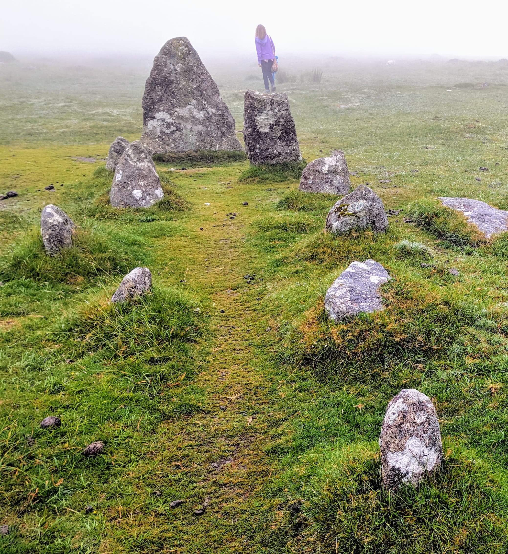 The processional avenues of Merrivale in Dartmoor
