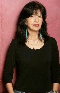 Joy Harjo (b 1951), Mvskoke (Creek) Poet, Musician, author and key player in the second wave of the Native Merican Renaissance (literary efflorescence)